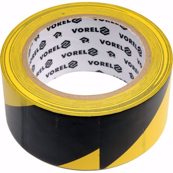 Самозалепваща сигнална лента черно/жълто 48мм 33м