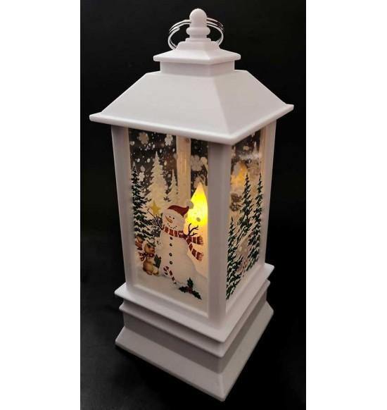 LED Коледен фенер SNOWMAN бял IP20