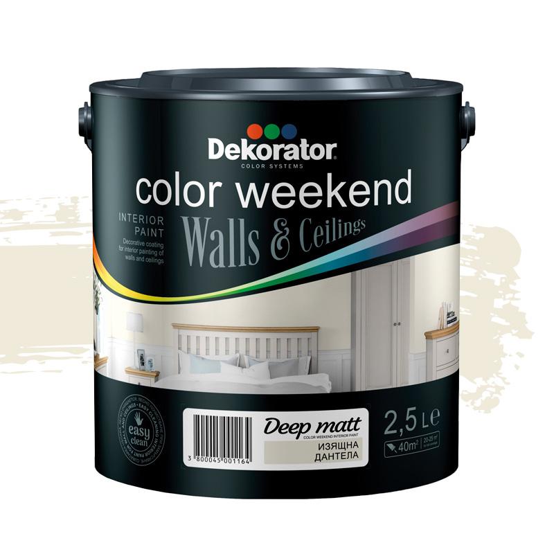 Латекс Color Weekend Saten Teflon 2.5л изящна дант
