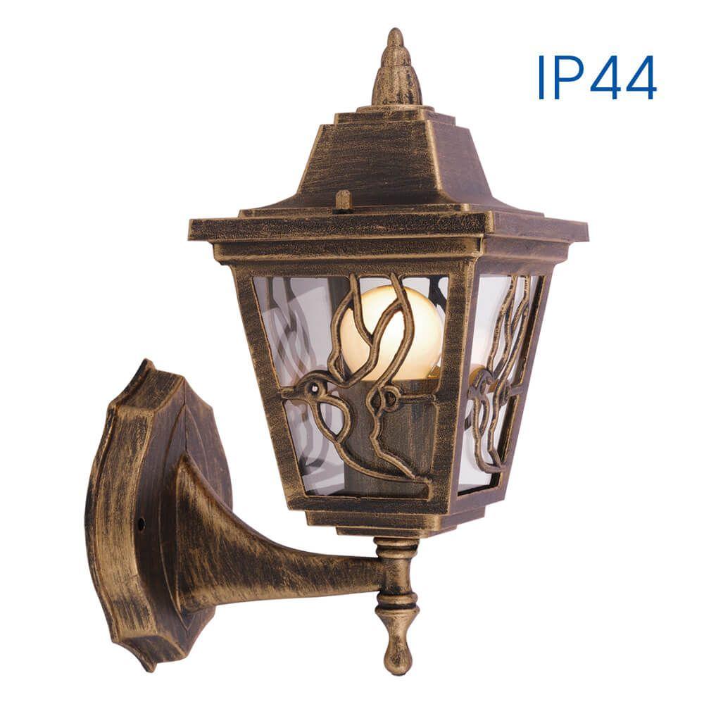 Стенен фенер с долен носач LYON античен месинг 230