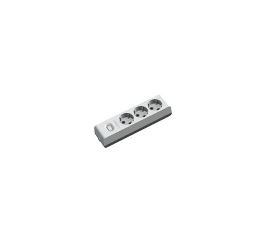 Удължител троен 2м кабел ключ 404255