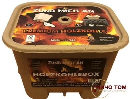 Кутия с въглища за лесно разпалване Premium