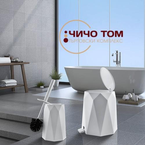 Комплект кошче и четка за тоалетна Geo /различни ц