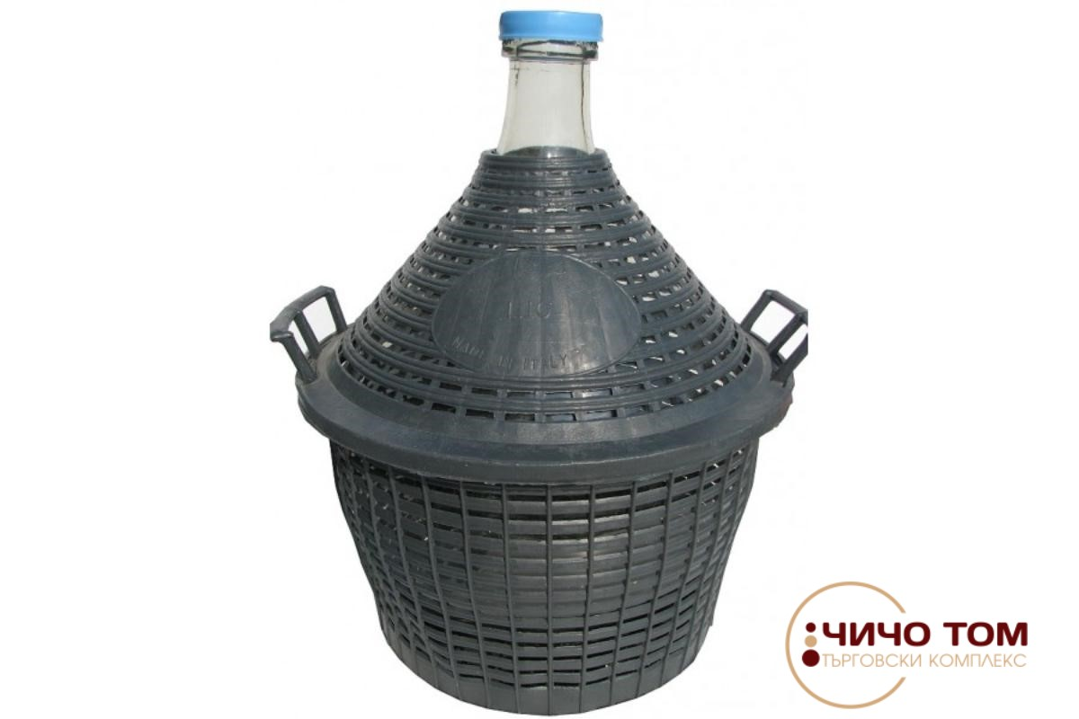 Дамаджана с пластмасова мрежа 10L