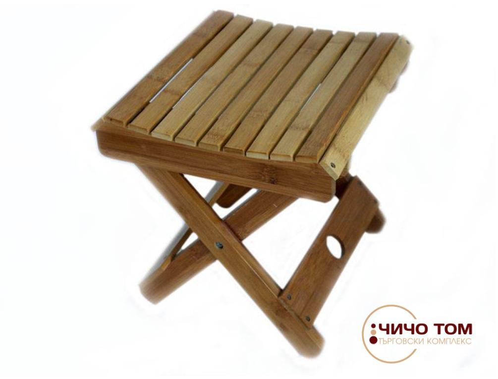 Столче от бамбук /сгъваемо/
