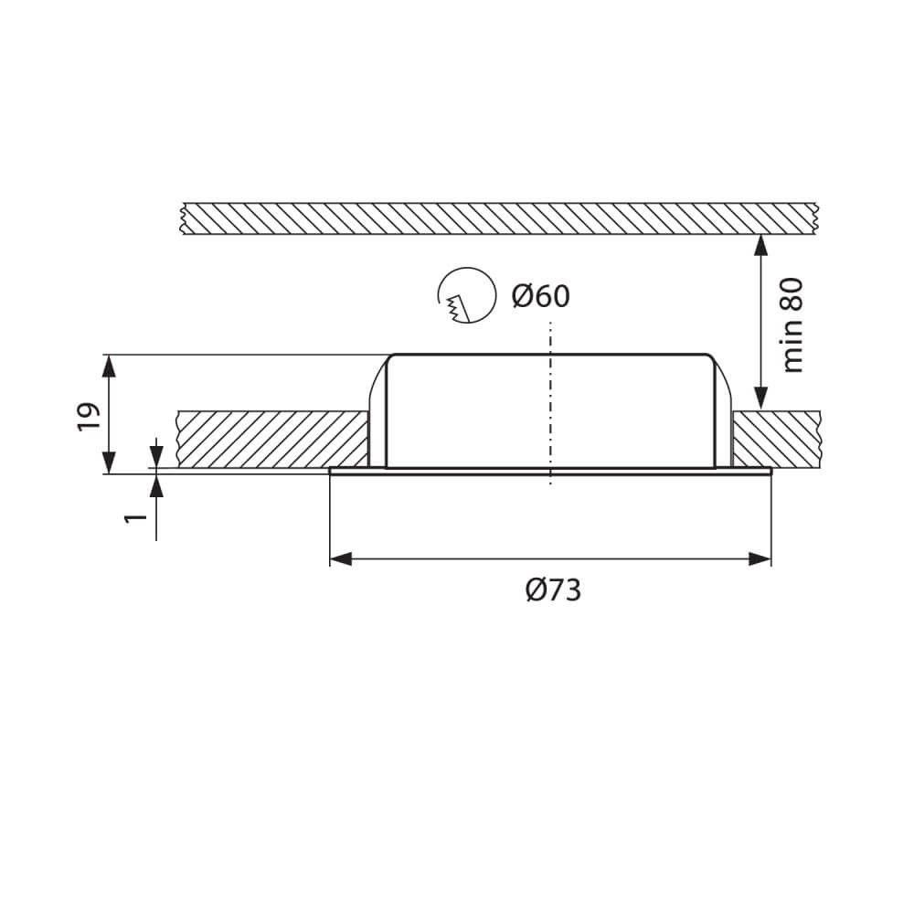 Луна за мебели BELL FL-300 C/M