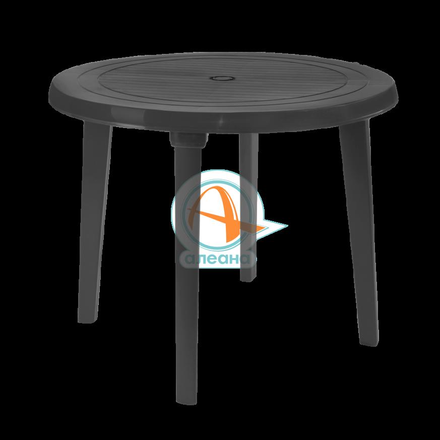 Пластмасова, кръгла маса в цвят капучино