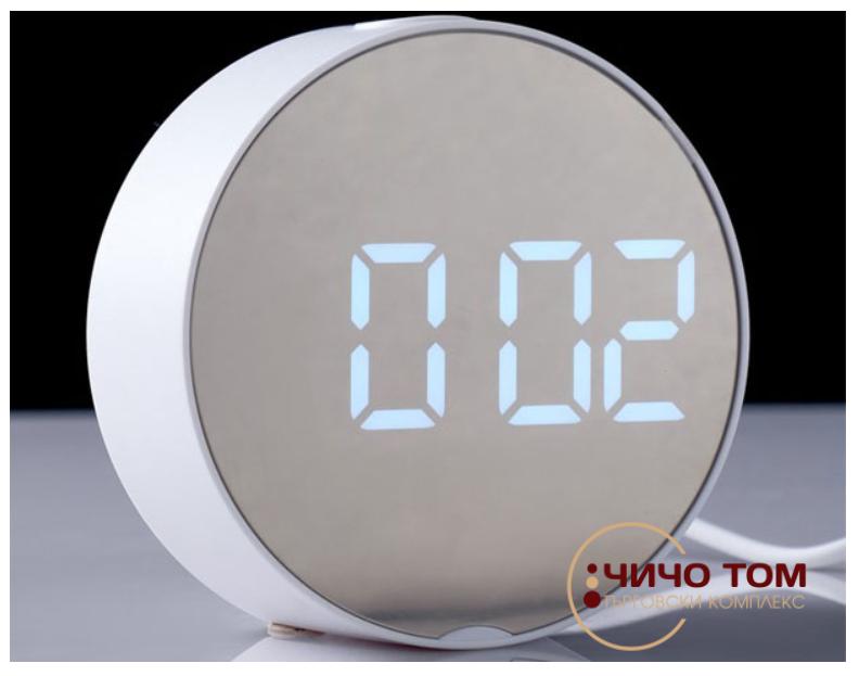 Настолен дигитален часовник в бял цвят