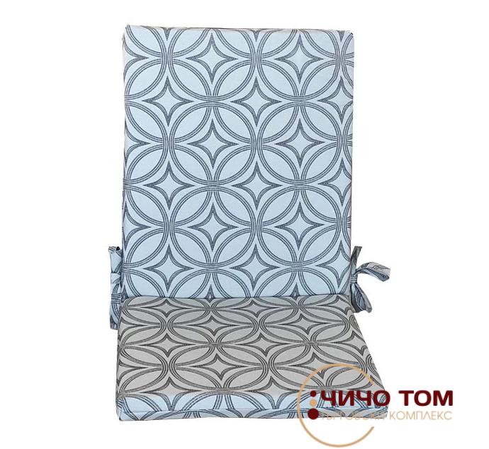 Възглавница за стол с цип Грей Ринг 43х90х4см