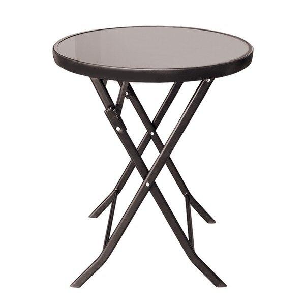 Сгъваема маса със стъклен плот Muhler 60х74см