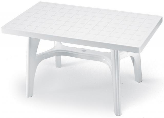 Пластмасова маса Rettango 140x80 /бяла/