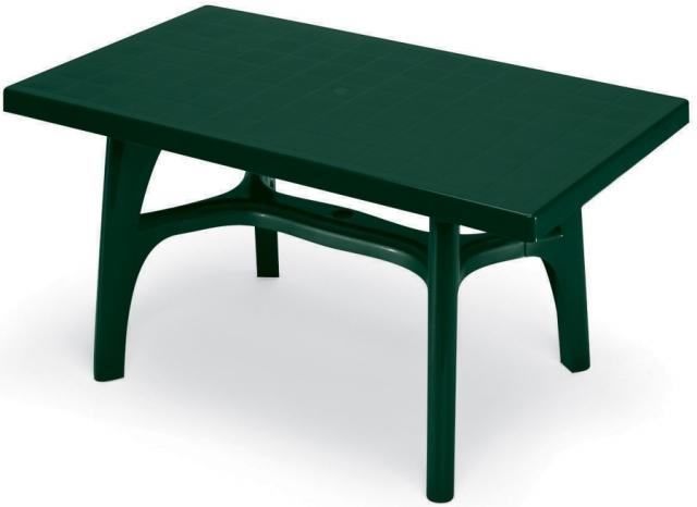Пластмасова маса Rettango 140x80 /зелена/