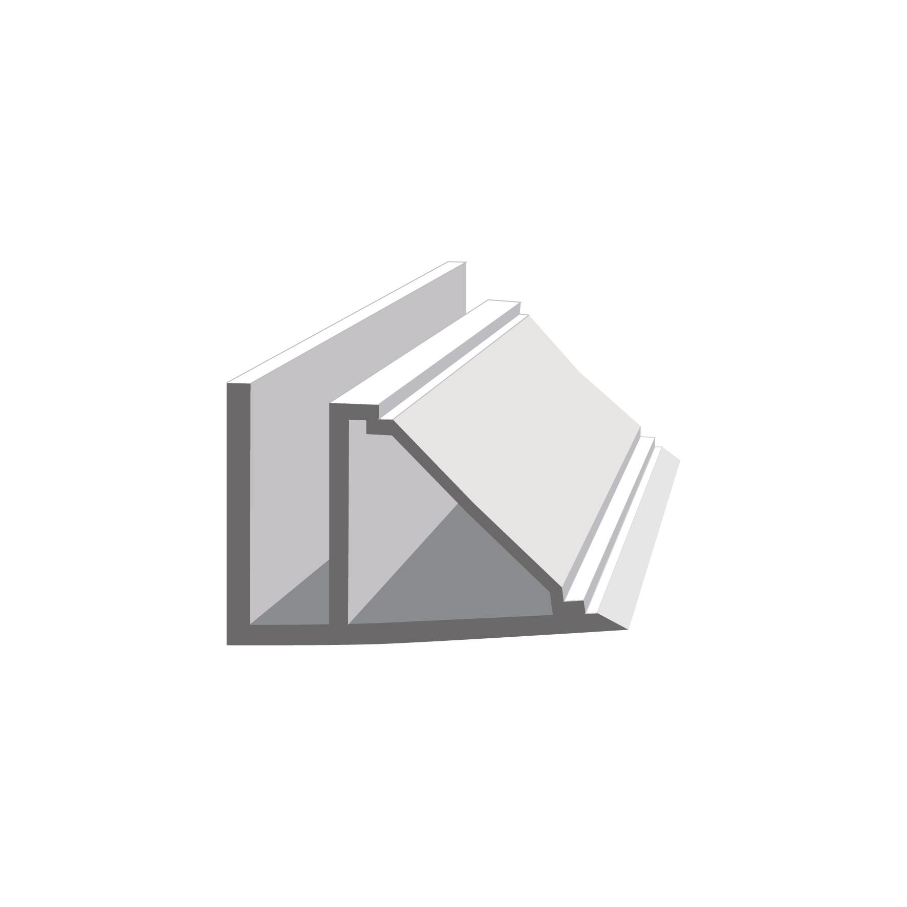 Декоративен профил за ламперия бял 300/120