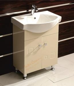 Мебел за баня бежов 6080 60х46х85