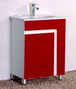 Мебел за баня червен 6085 60х46х85