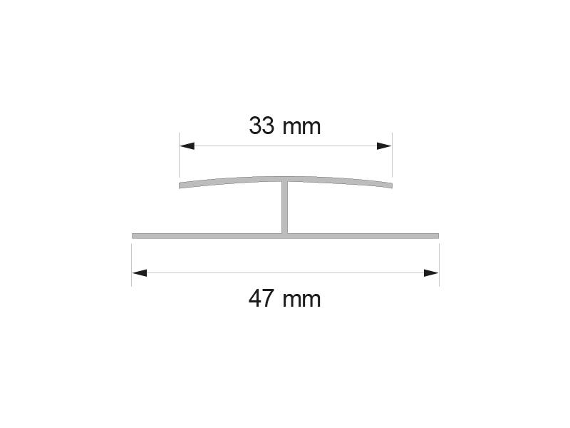 Свързващ елемент за ламперия бял 300_90