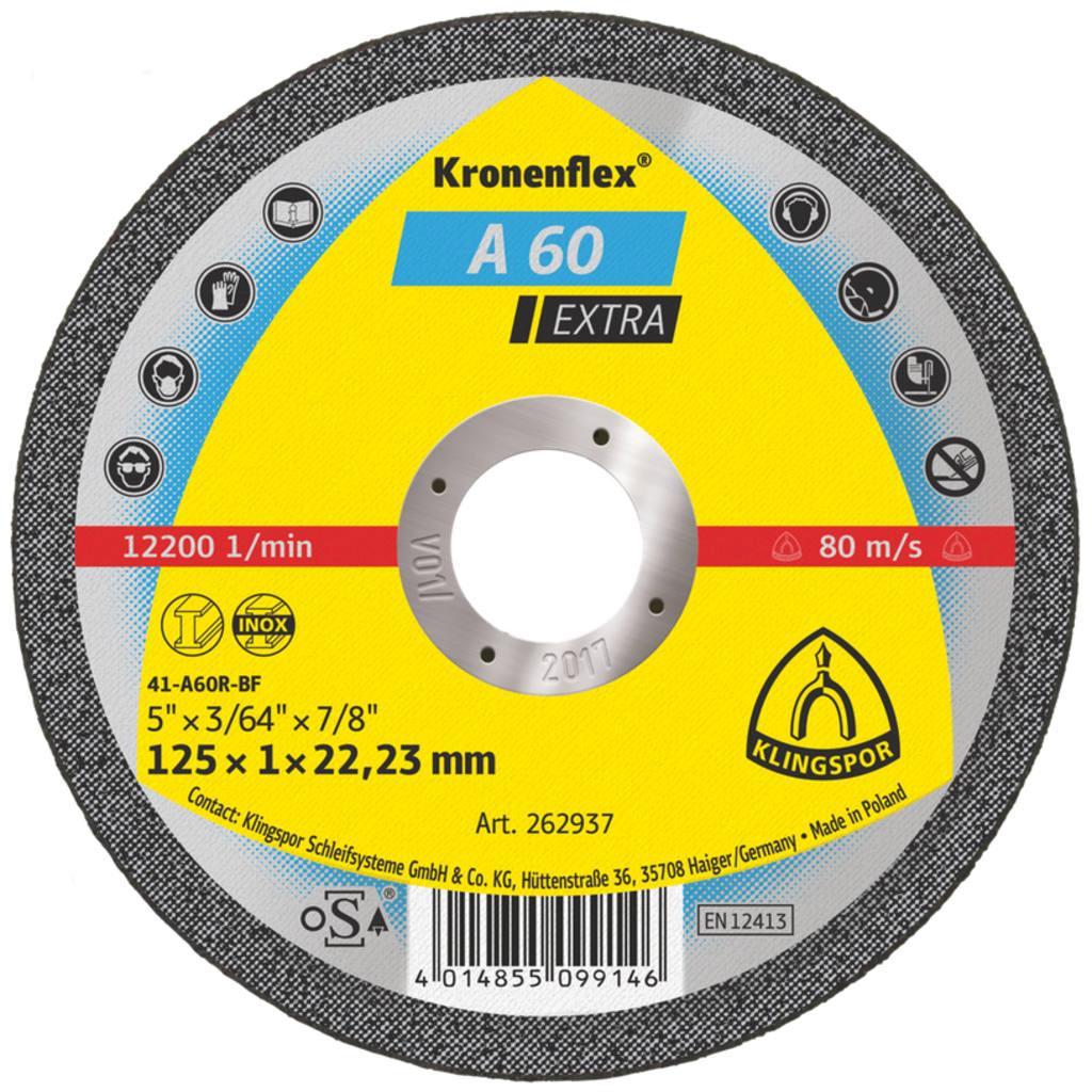 Диск A 60 125x1x22.23 EXTRA стомана 262937