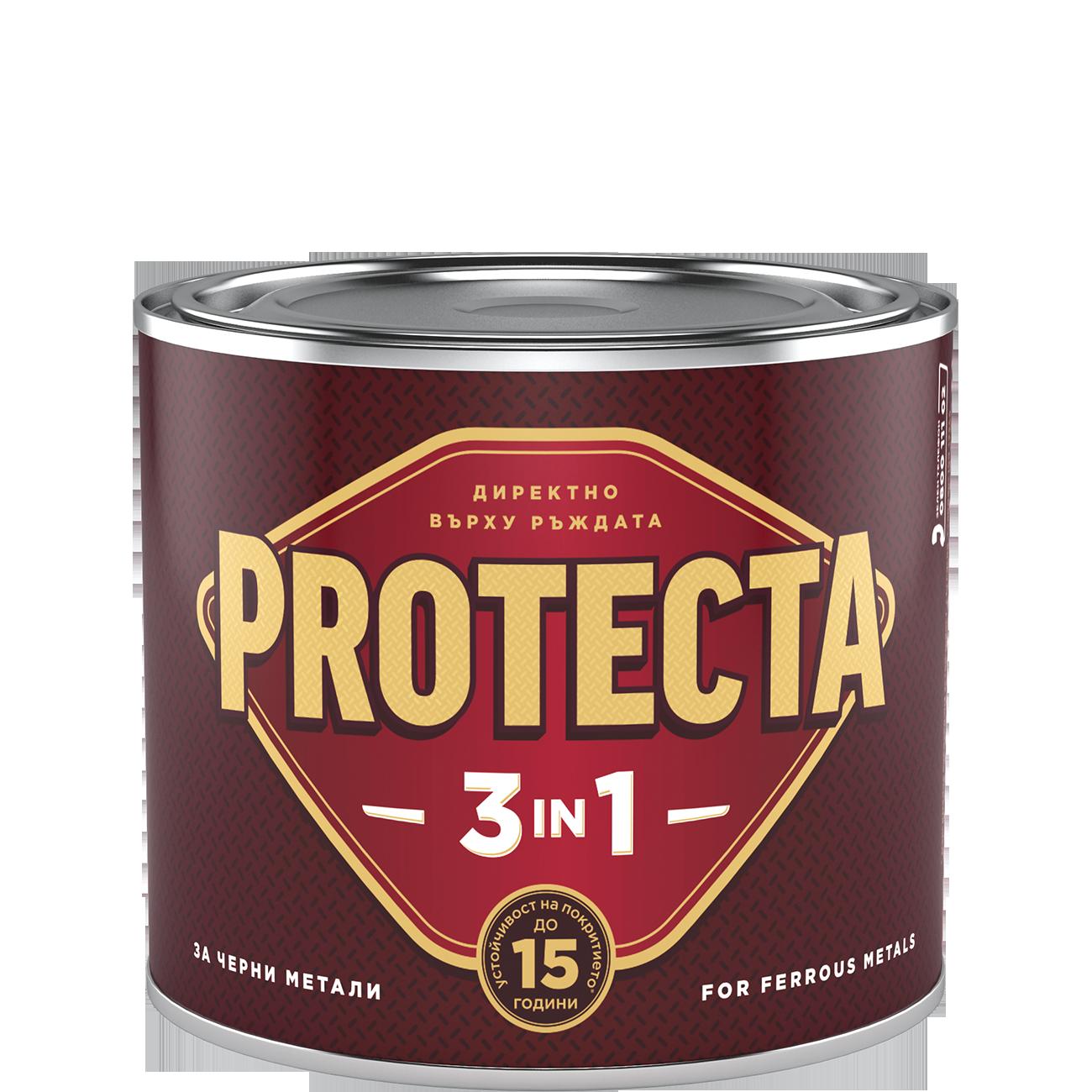 Protecta 3в1 мат черна 500мл 133372