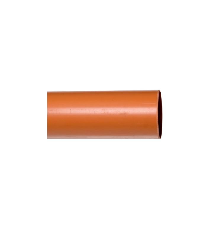 ПВЦ тръба ф110х1.8  оранж 61702