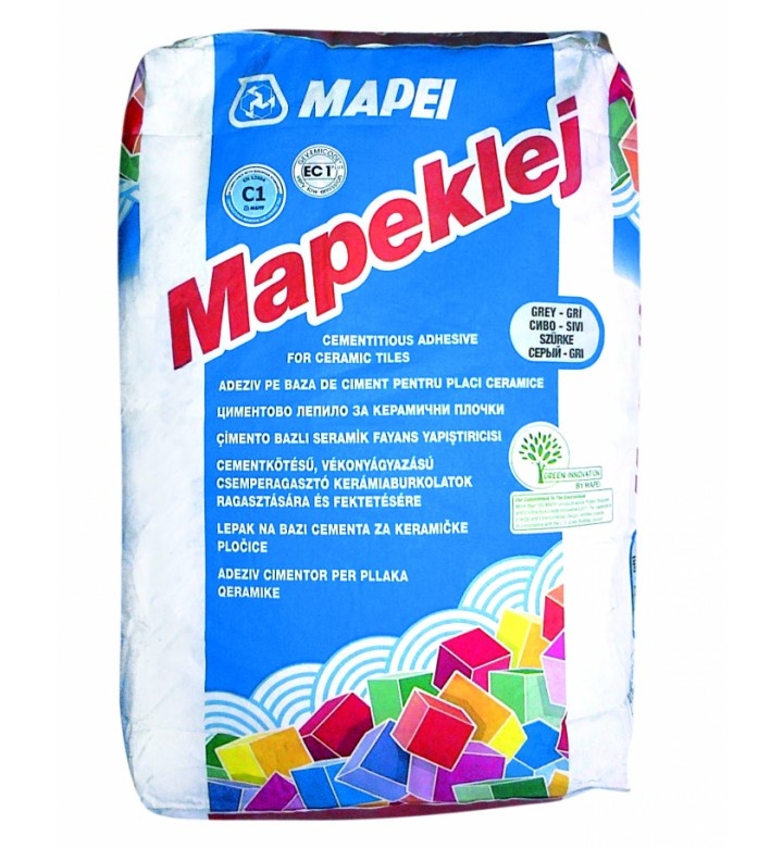 Лепило за керамични плочки стандарт Mapeklei 25кг