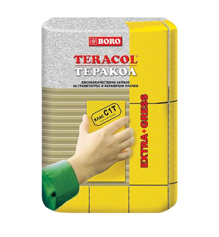 Теракол Тънкослойно лепило за плочки С1 25кг ЕКО