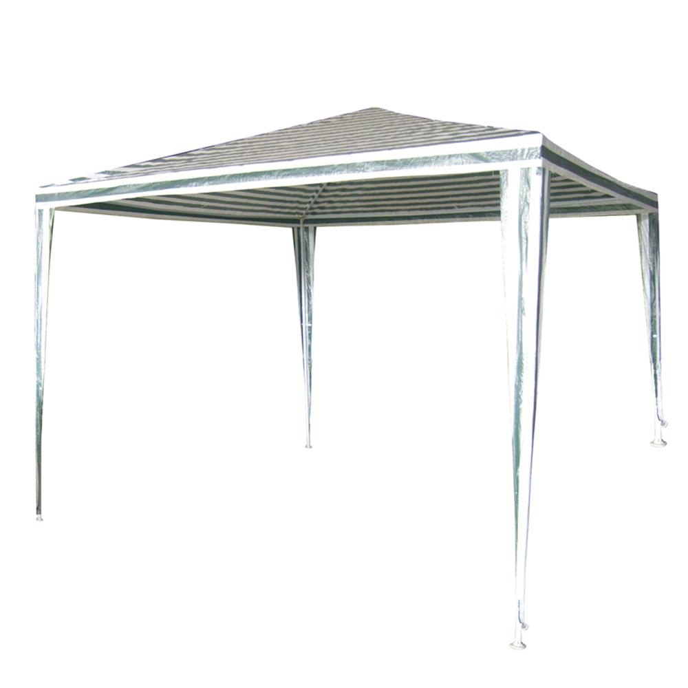 Сгъваема шатра ПЕ 2.4х2.4 бяло-зелена 394203