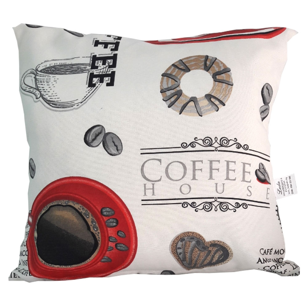 Декоративна възглавница с цип 43/43 червено кафе 3