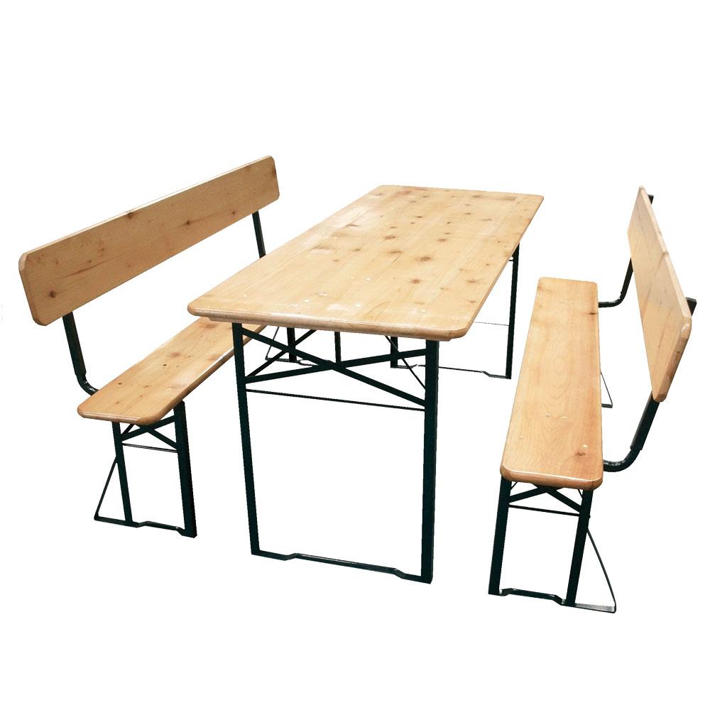 Бирен сет - маса   2 пейки с облегалки 390603
