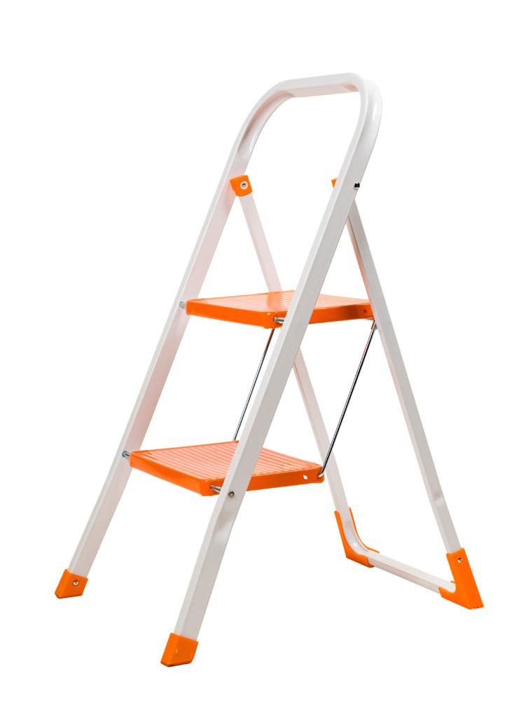Домакинска стълба метална 2 стъпала широки 343061