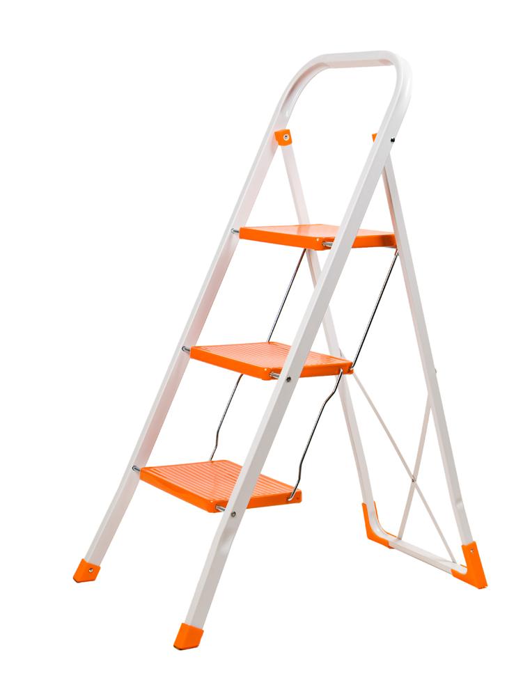 Домакинска стълба метална 3 стъпала широки 343062