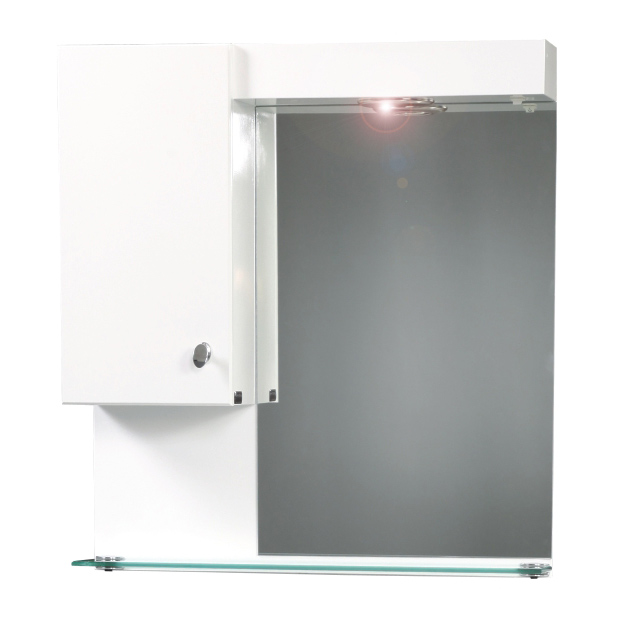 Мебел за баня с огледало и осветление Класика 55Ш