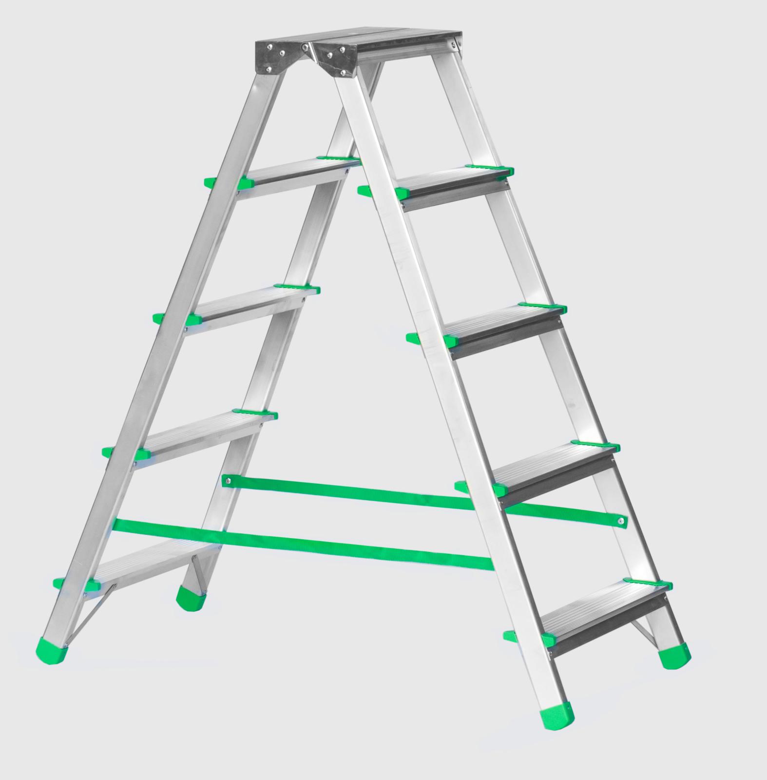 Алуминиева стълба двустранна 2х5 120кг 3410378