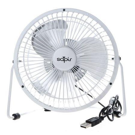 Вентилатор 2.5W 15см бял настолен SP 1760 USB6