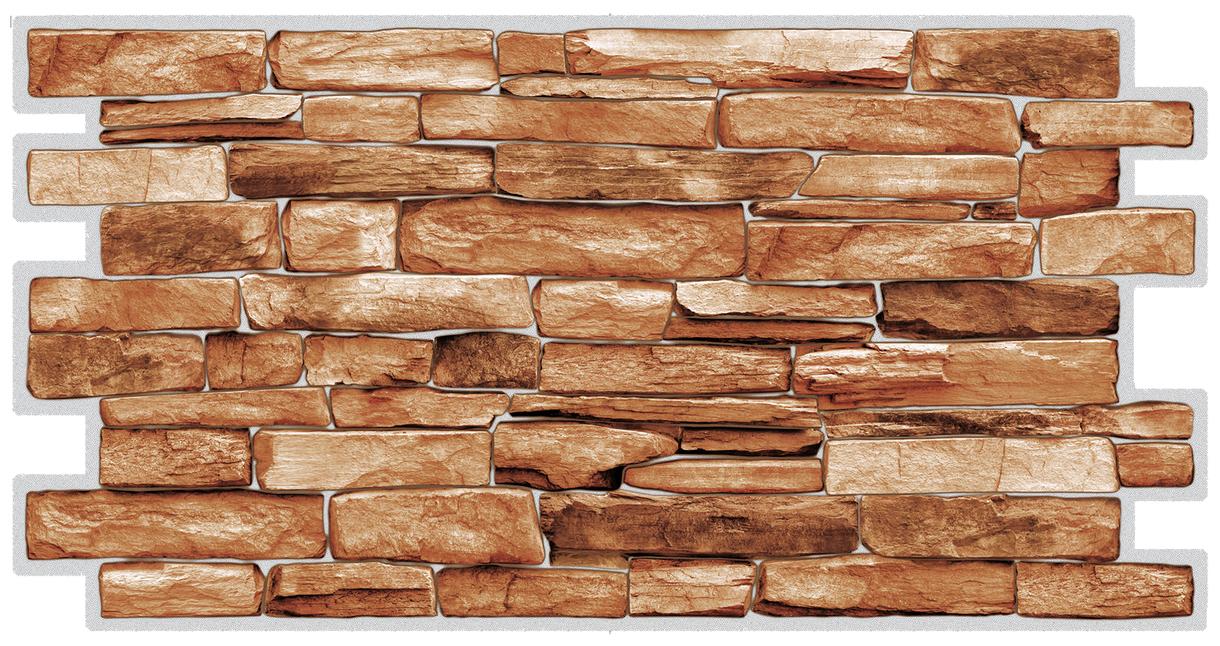 ПВЦ панел за стена 48/95.5 камък карелски 3456782