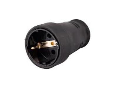 Куплунг гумиран 16А черен IP40 410501
