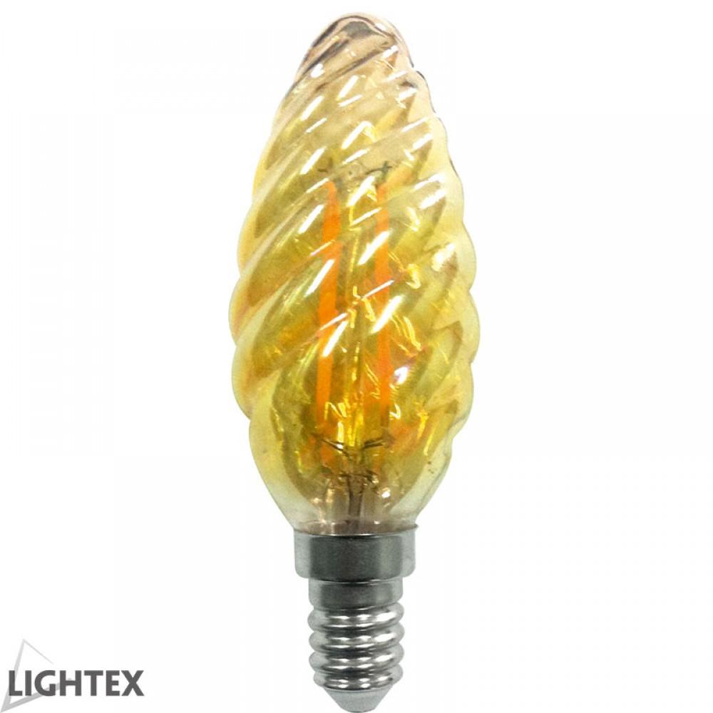 LED лампа Filament 4W 220v E14 C35 шишарка GOLD