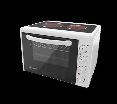 Готварска печка Елдом 203 VE бял емайл