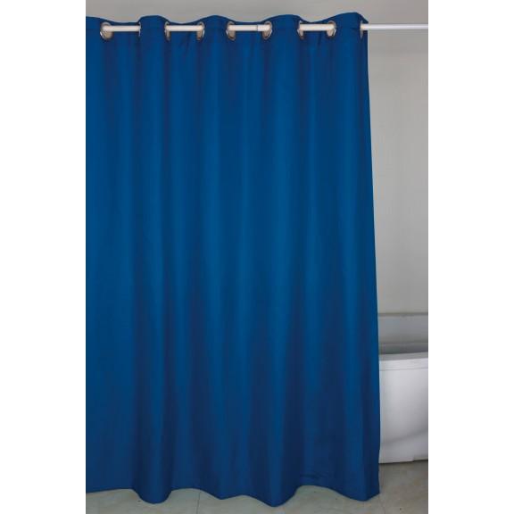 Душ завеса 180-200см тъмно синя 188