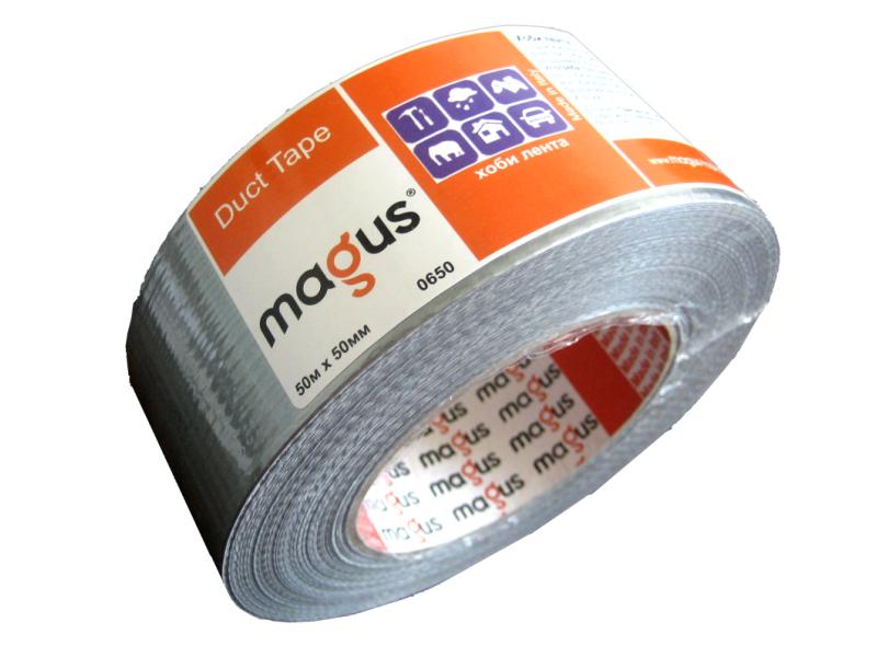 Хоби лента 10м/48мм черна Magus 906