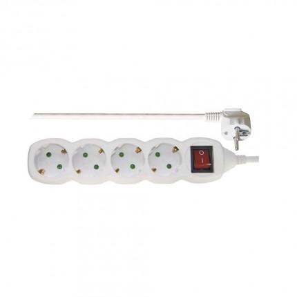 Разклонител с 4 гнезда, 2м кабел   ключ P1422 3063