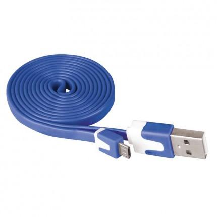 Кабел USB/USB MICRO 1м син 3396