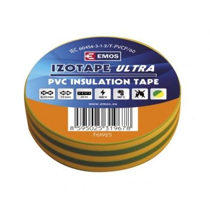 Изолирбанд жълто-зелен PVC 19мм/20м 3079