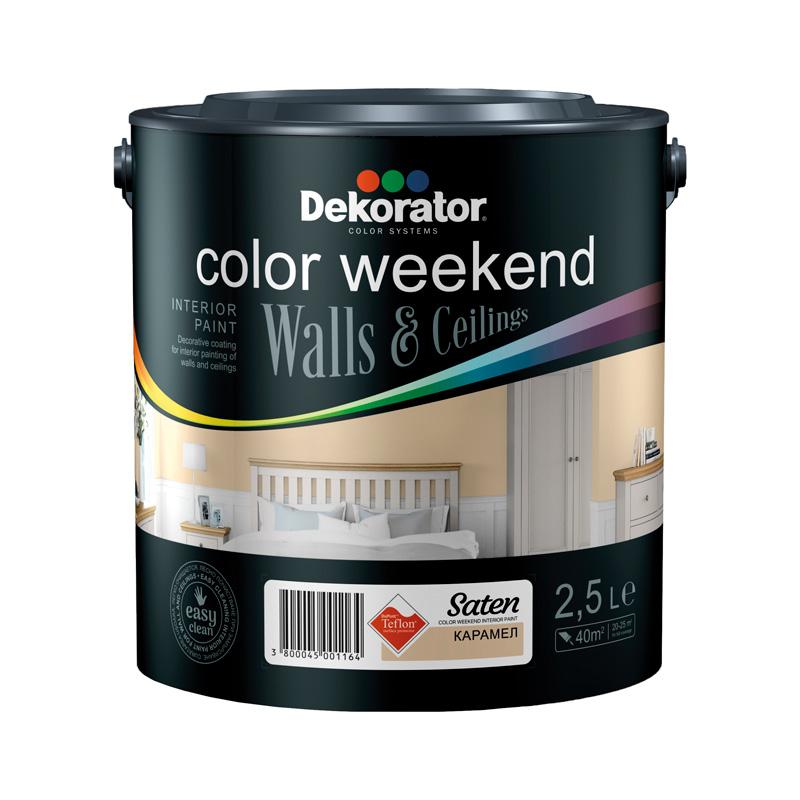 Латекс ColorWeekendSatenTeflon 2.5л карамел